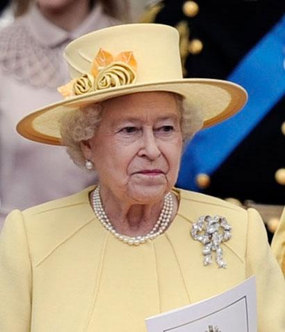 Rainha Elizabeth II no Casamento real