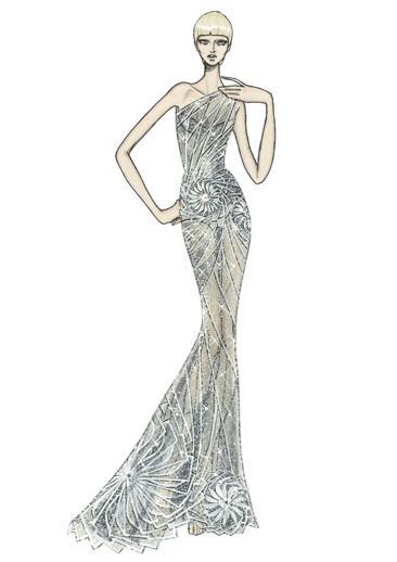 Croquis de moda Versace