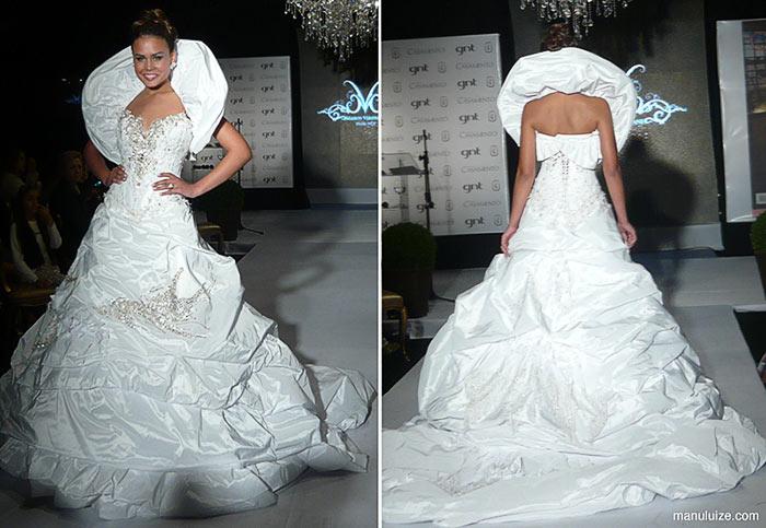 Vestido de noiva branca de neve