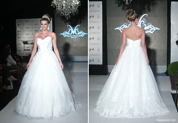 Vestido de noiva - Desfile Castelo de Batel