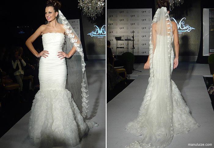 Vestido de noiva no Castelo do Batel