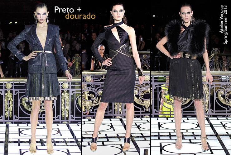 Atelier Versace: Coleção Haute Couture S/S 13 Preto e dourado