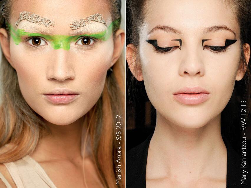 Maquiagem artística - Manish Arora e Mary Katrantzou