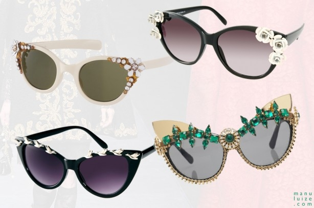 Óculos de sol barroco na moda