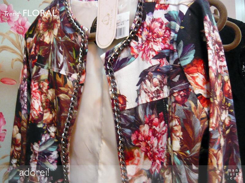 Jaqueta Floral na Farofa Chic