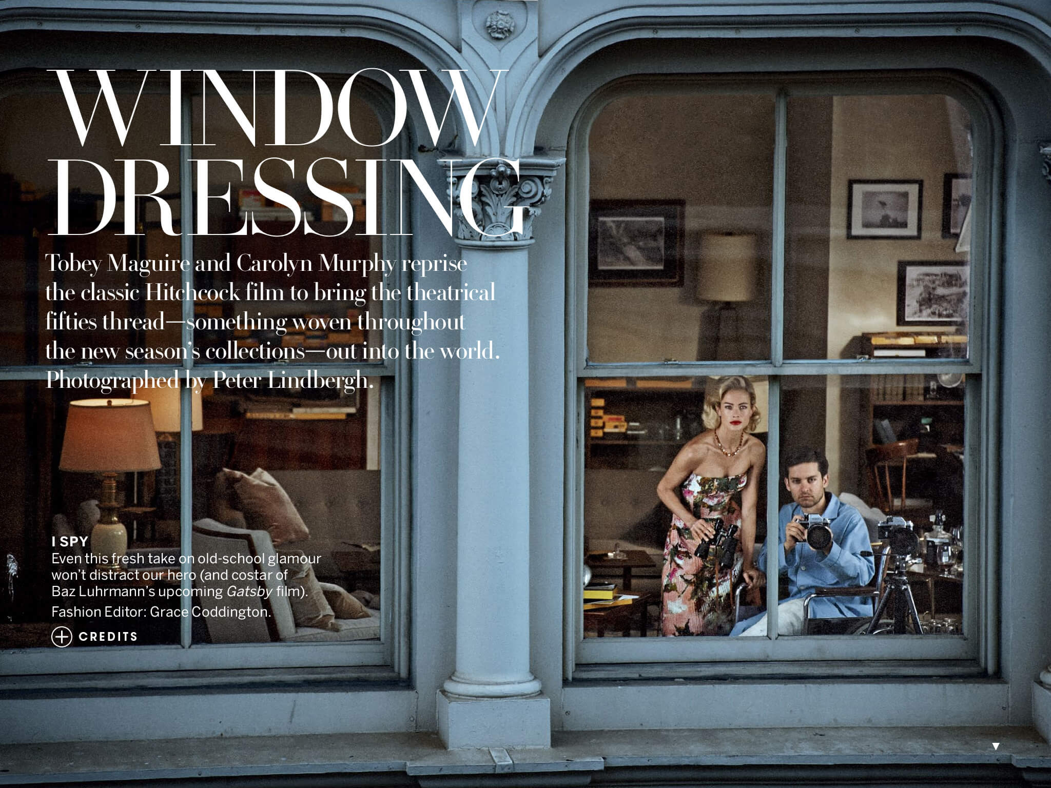"Editorial US Vogue - April 2013 - ""Window Dressing"""