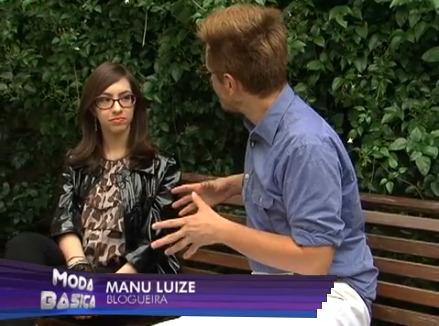 Manu Luize dá dicas de moda no programa Moda Básica