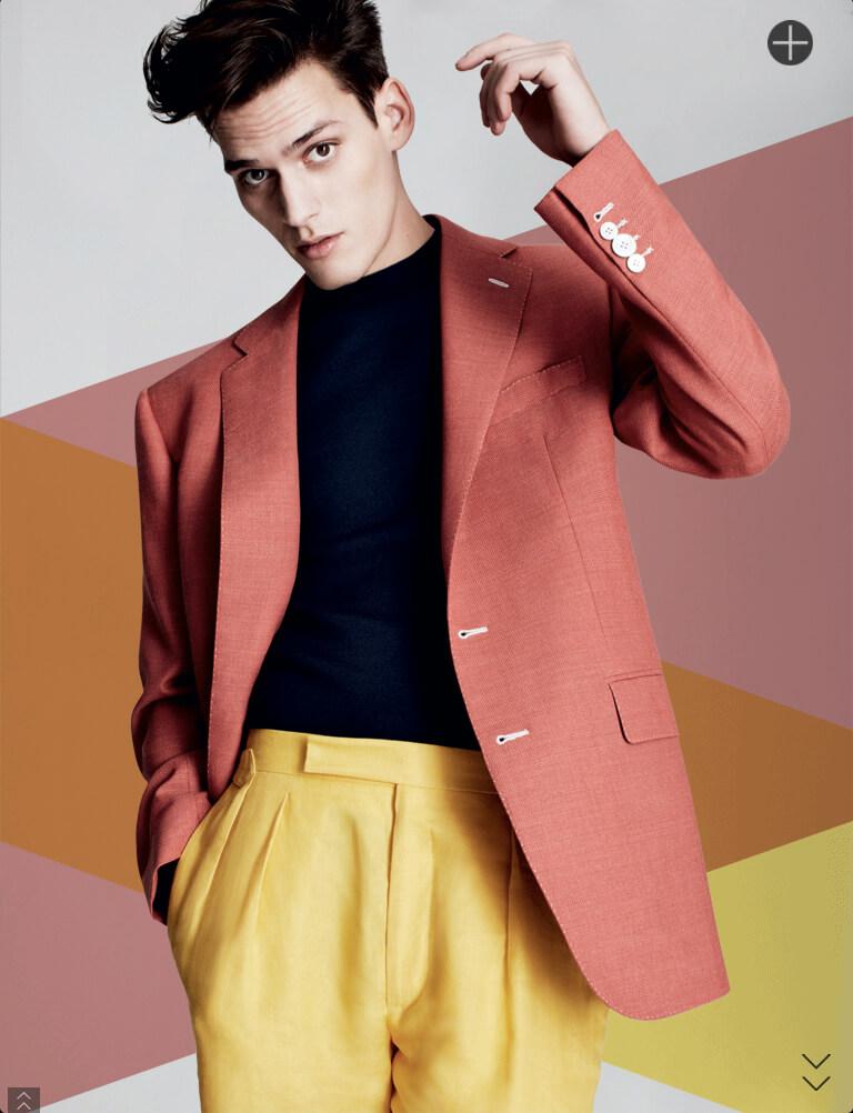 Editorial da Harrods de Moda Masculina