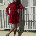 Look do Dia: Casaco Vermelho como vestido