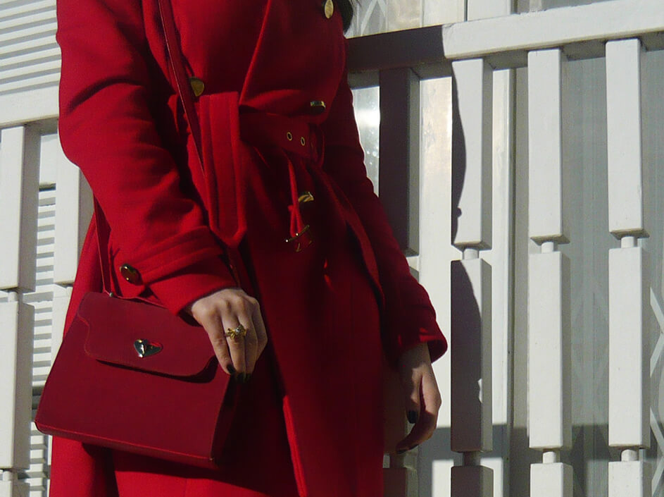 Look do Dia: Casaco Vermelho