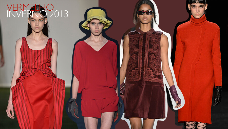 Tendência: Vermelho na moda no Inverno 2013