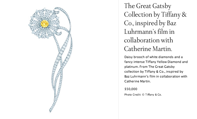 The Great Gatsby collection by Tiffany Co.
