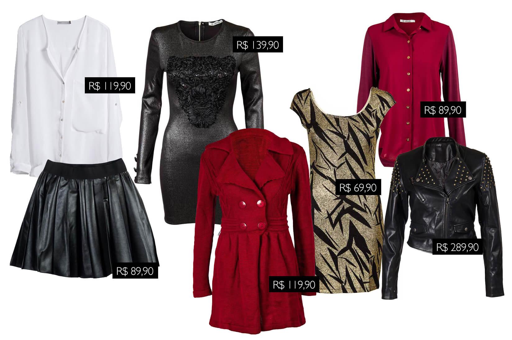Liquidação de Inverno 2013 no olook, seleção de roupas