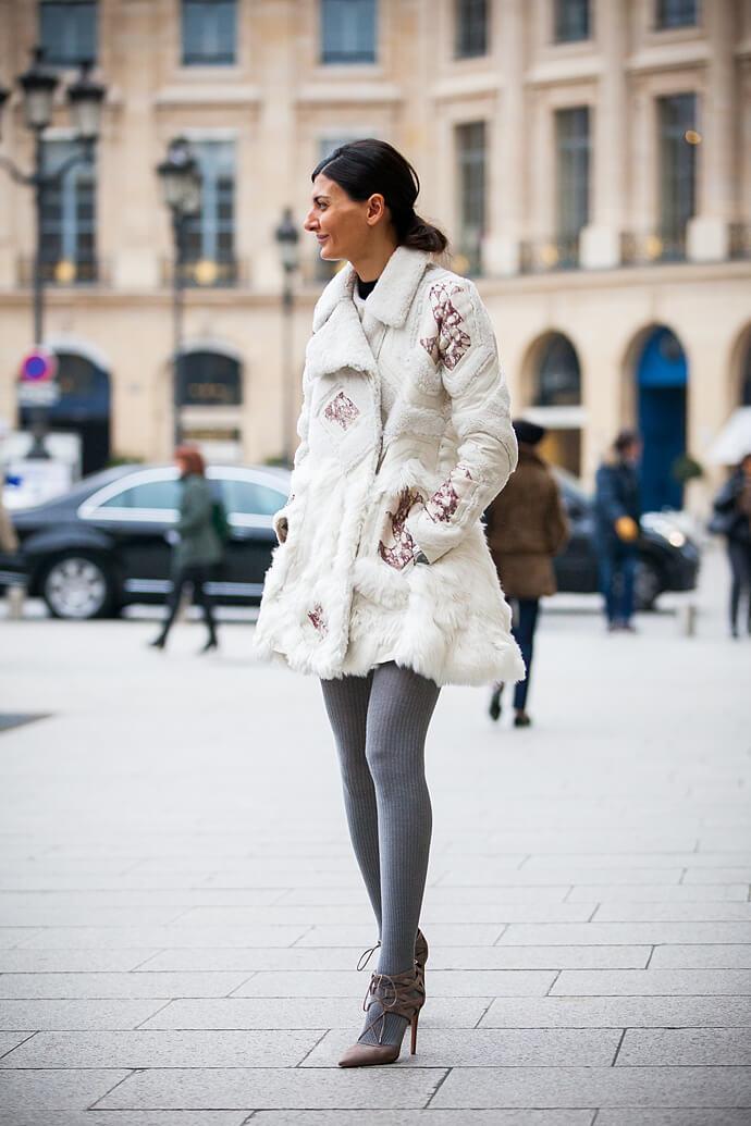 Look de Inverno: Casaco de pele - Giovanna Battaglia