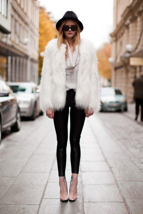 Look de Inverno: Casaco de pele