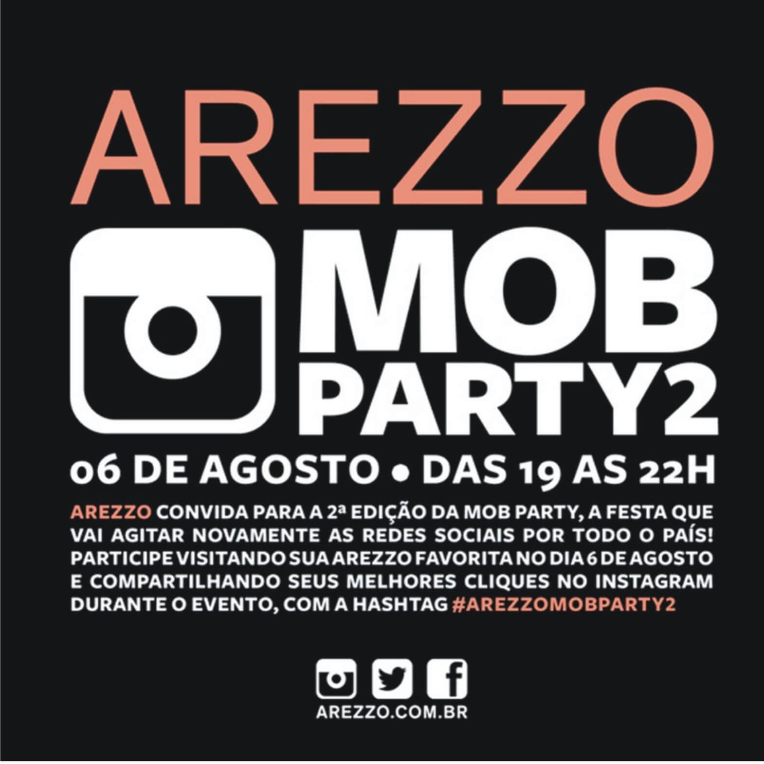 Convite: Lançamento de Verão 2014 da Arezzo - MOB Party