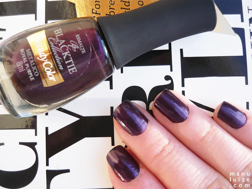 Esmalte metálico: Royal Purple da Beauty Color
