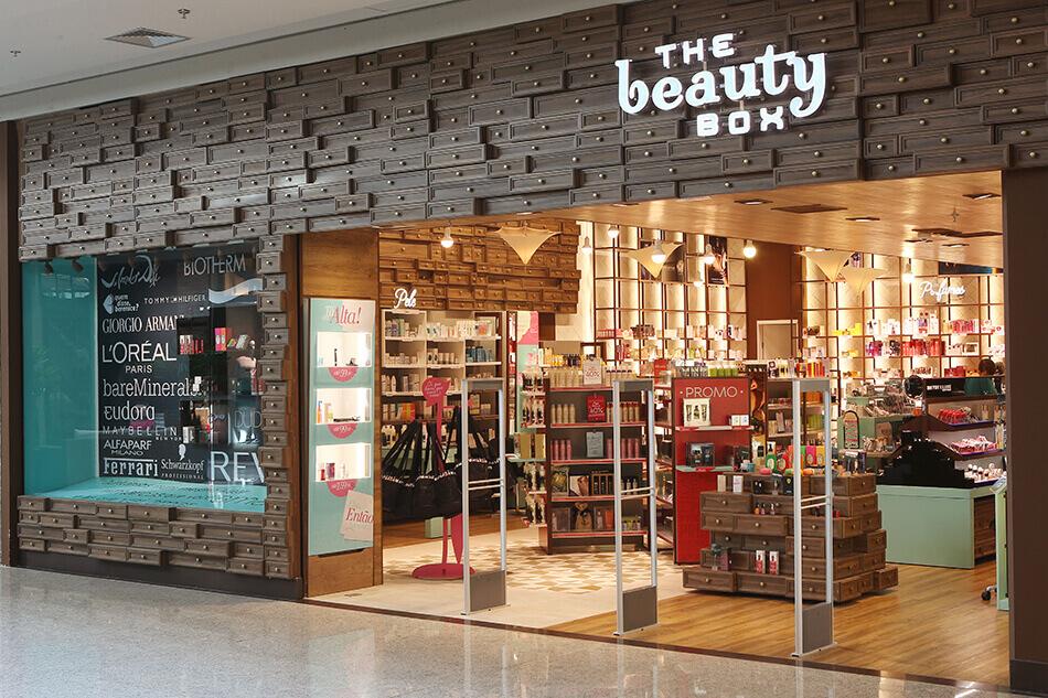 Fachada da loja The Beauty Box