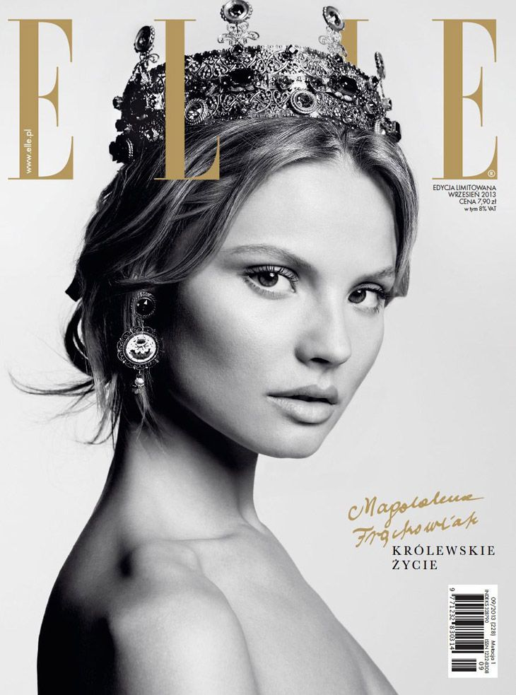 Magdalena Frackowiak for Elle Poland September 2013 Cover
