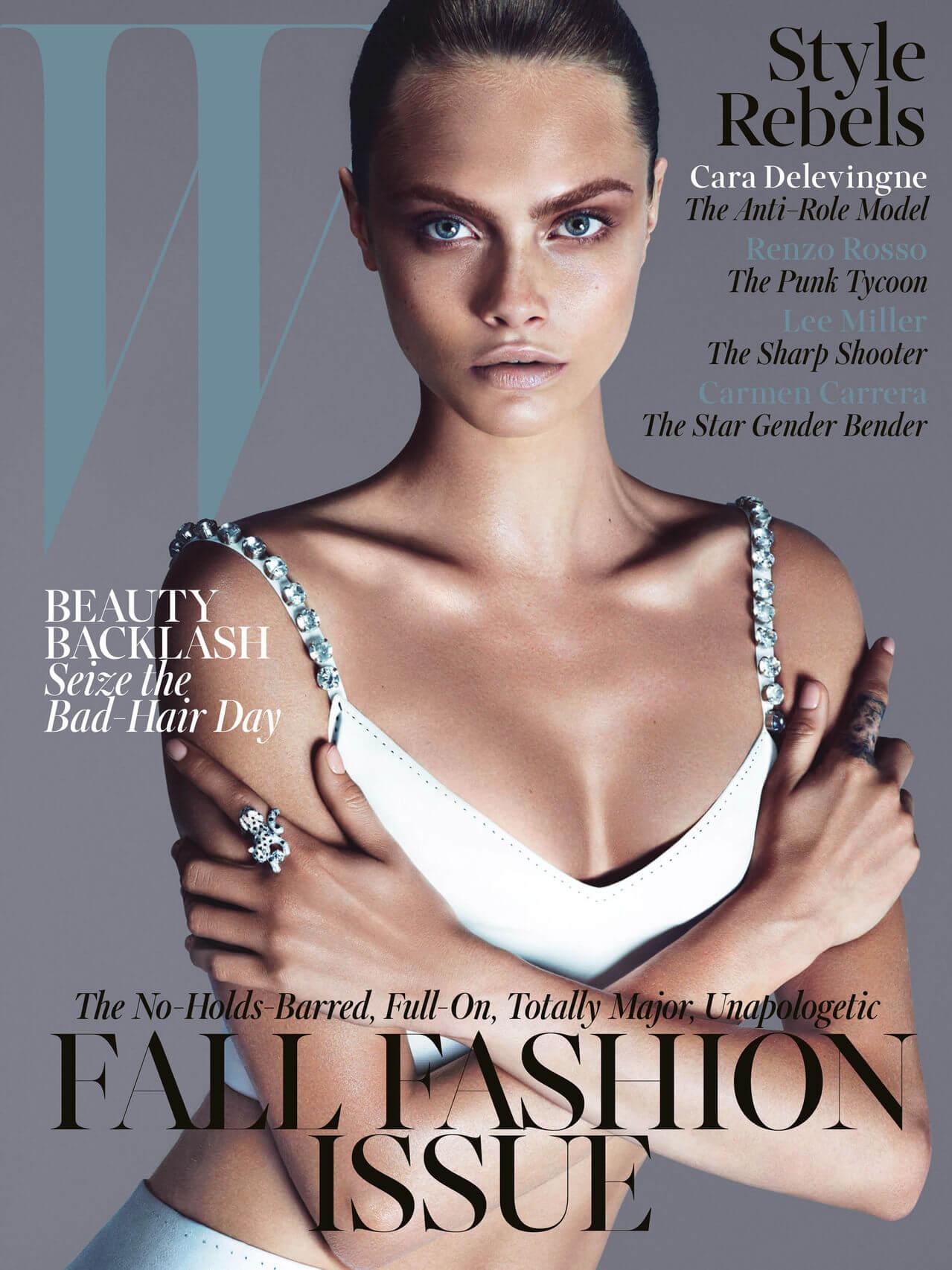 Cara Delevingne na capa da revista W de setembro 2013