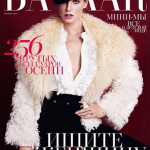 Angela Lindvall na capa da Harper's Bazaar Russia – Outubro 2013