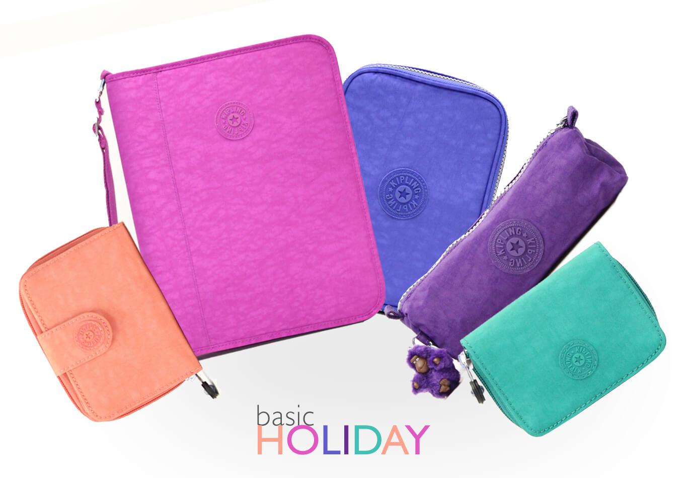 Kipling lança coleção Basic Holiday: 5 novas cores.