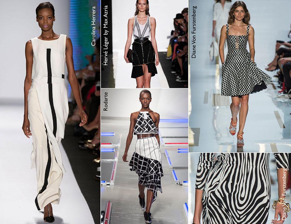 A combinação de preto branco ainda é tendência para o Spring/Summer 2014