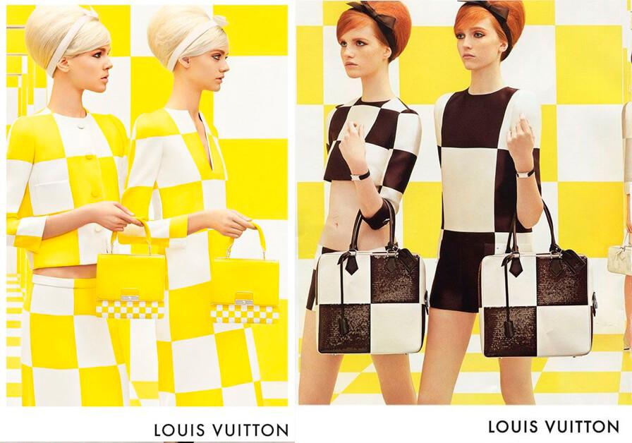 Tendiencia - Xadrez gráfico Louis Vuitton SS 2013