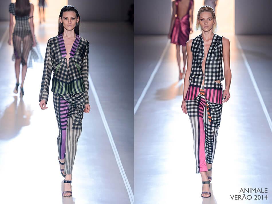 Tendência: Xadrez na Moda - Animale Verão 2014