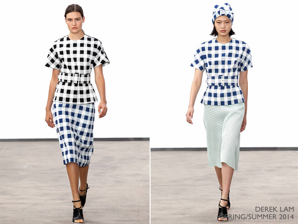 Tendência: Xadrez na moda - Derek Lam Spring/Summer 2014
