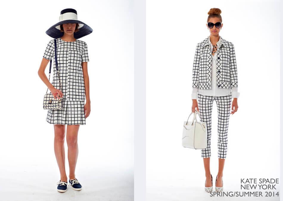 Tendência: Xadrez na moda - Kate Spade New York Spring/Summer 2014