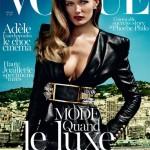 Edita Vilkeviciute na capa da Vogue Paris Outubro 2013