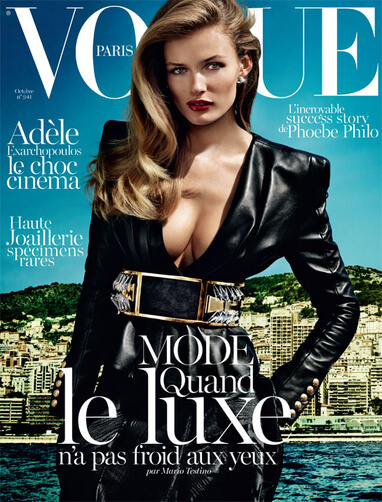 Edita Vilkeviciute na capa da Vogue Paris October 2013