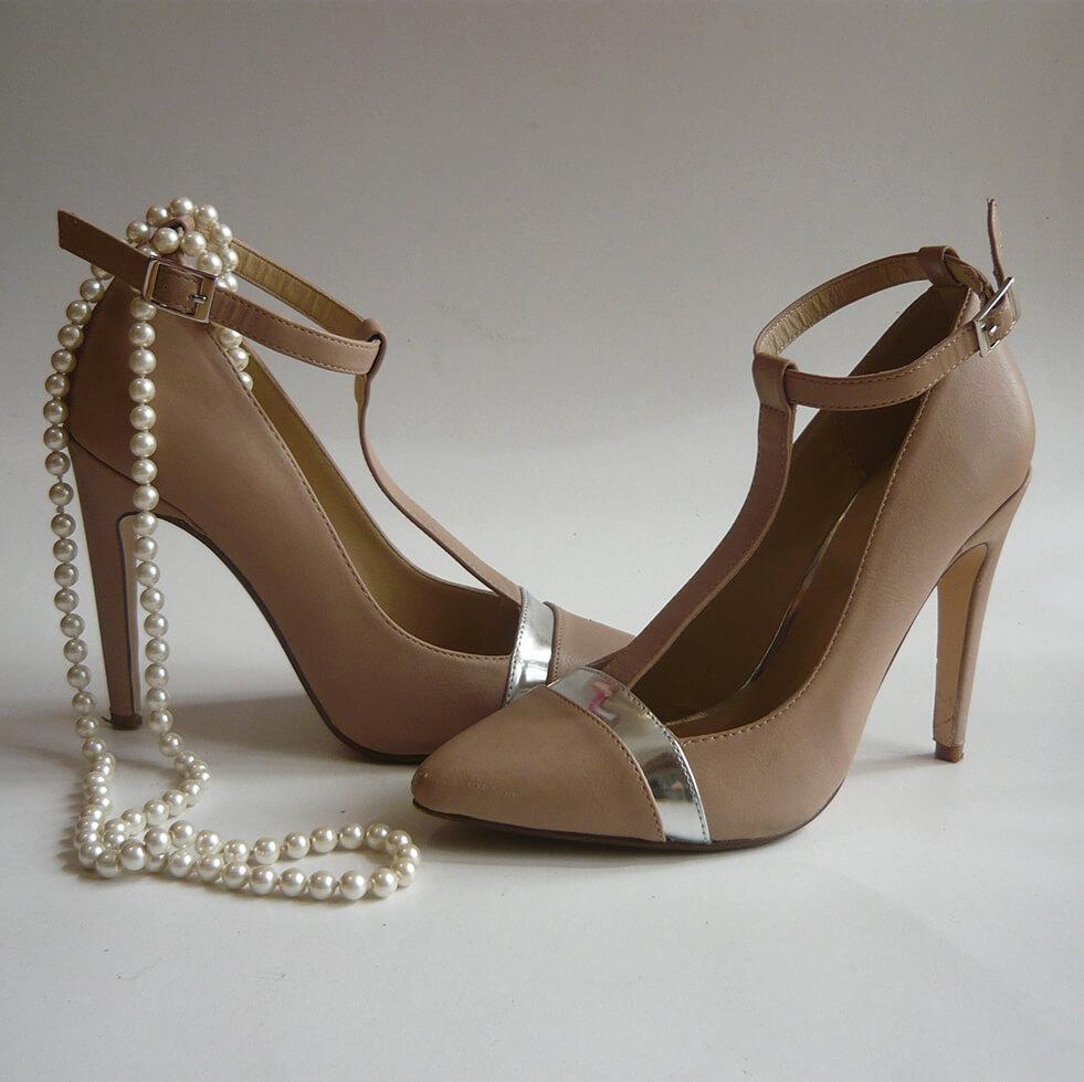 Scarpin nude - Sapatos do meu look do dia