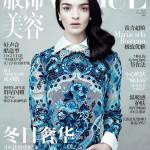 Capa da Vogue China Novembro 2013 com Mariacarla Boscono