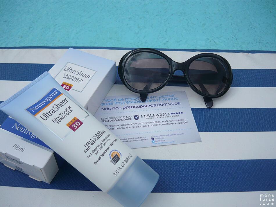 Protetor solar Neutrogena FPS 30 na peelfarma
