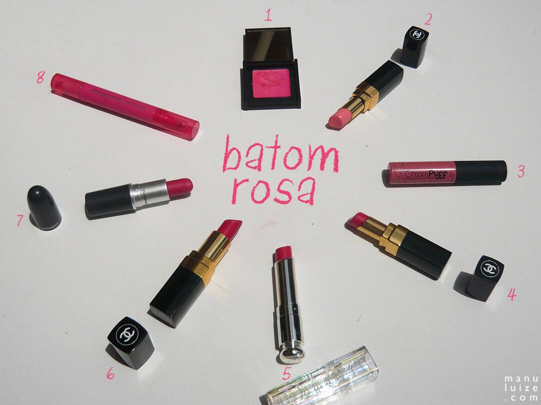 Batom Rosa: meus batons preferidos