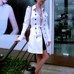 Look do Dia de Trench Coat branco