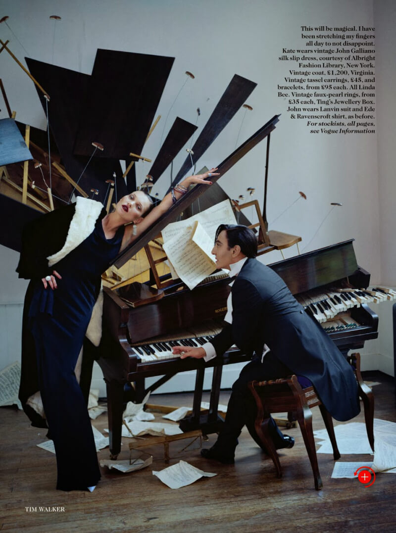 Kate Moss e Jhon Galliano em editorial por Tim Walker