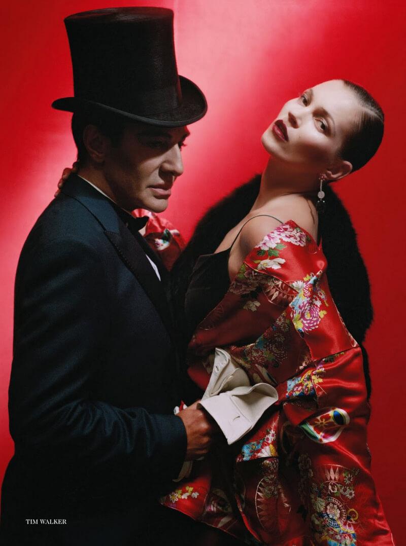 Kate Moss e Jhon Galliano em editorial por Tim Walker