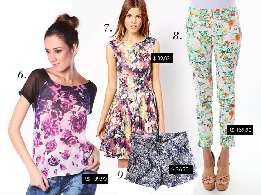 Tendência da Primavera/Verão 2014 internacional: Floral