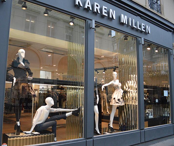Vitrine da Karen Millen em Strasbourg - França