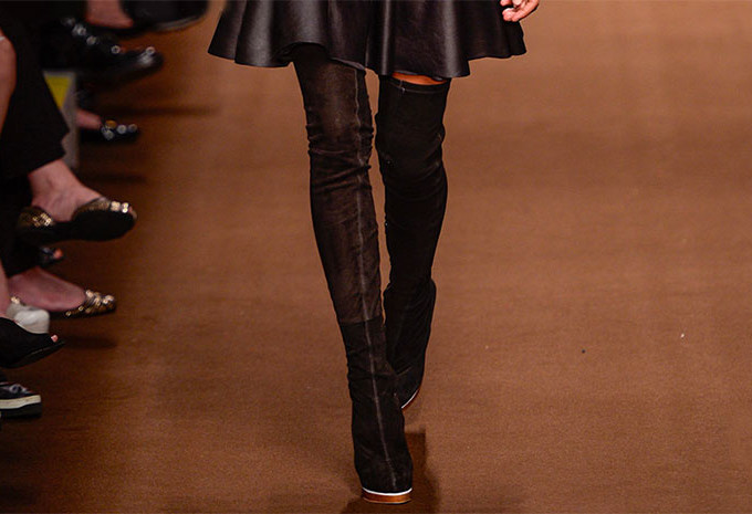 As botas cuissardes ou over the knee