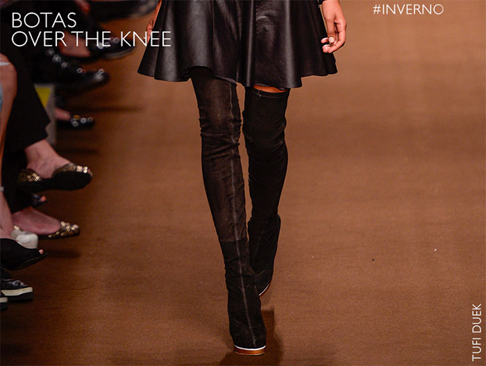 Looks com botas over the knee