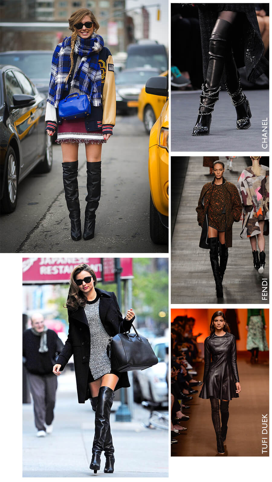 Looks com botas over the knee para o Inverno