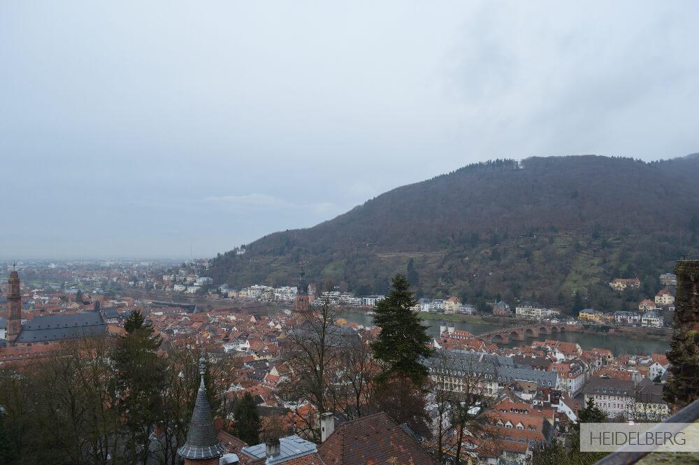 Vista do Castelo de Heidelberg - Alemanha