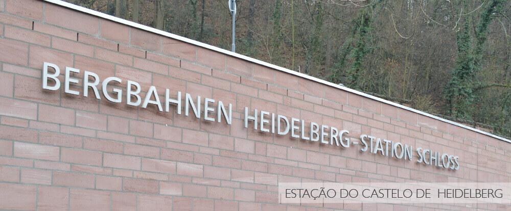 Estação do Castelo de Heidelberg - Alemanha