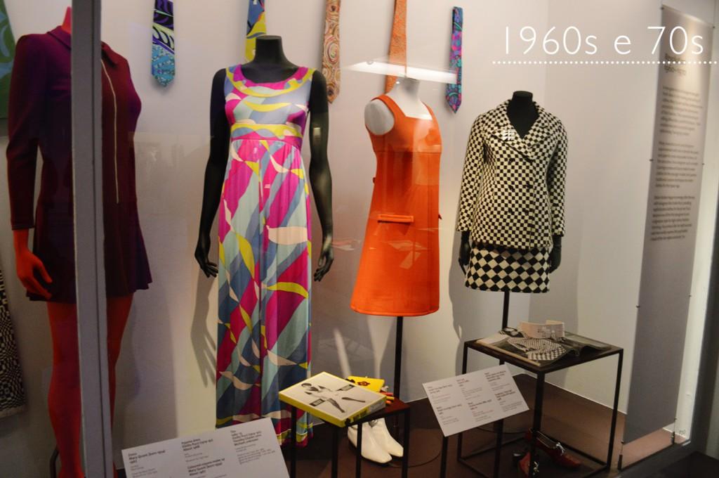 Coleção de moda 1960s e 70s