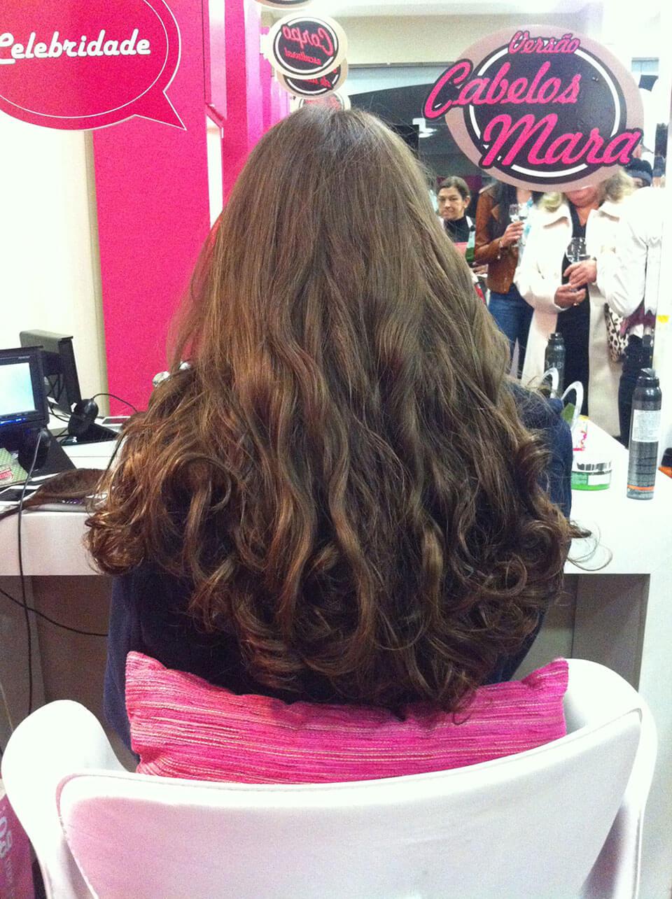 Aplique de cabelos longos da Hairdo