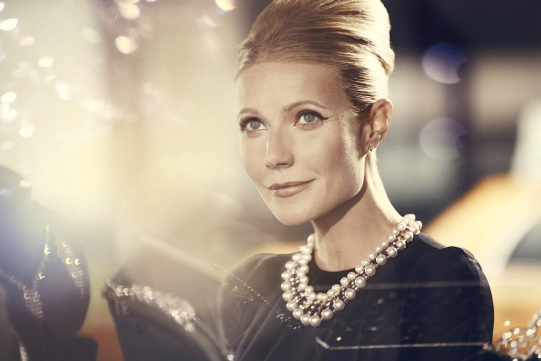 Gwyneth Paltrow como Audrey Hepburn na campanha da Max Factor